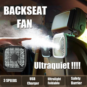 Portable Car Back seat Fan