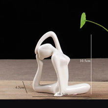 Load image into Gallery viewer, Ceramic Yoga Poses Girl Statue