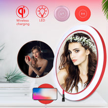 Load image into Gallery viewer, LED Make up mirror Wireless charger