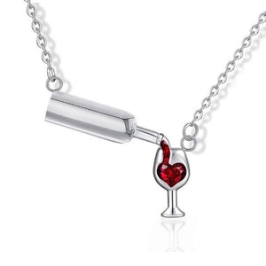 Unique wine love Necklace