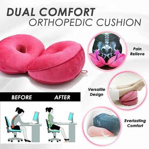 Foldable comfort seat cushion