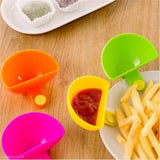 Mini clip-on side bowls for salsa, guacamole, dips and condiments