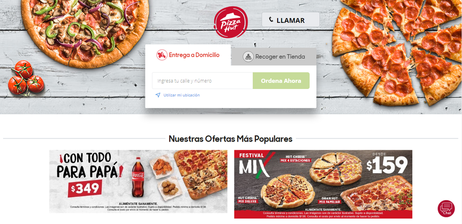 The new sites of Pizza Hut México and El Salvador - CODEBY PROJECT