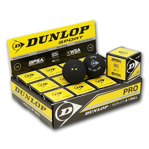 Pro Double Yellow Dot Squash Balls - Dozen