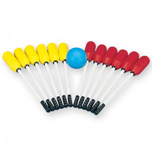 JEU DE BALLON BALAI - ENSEMBLE POUR 12 PERSONNES - INDOOR BROOMBALL SET