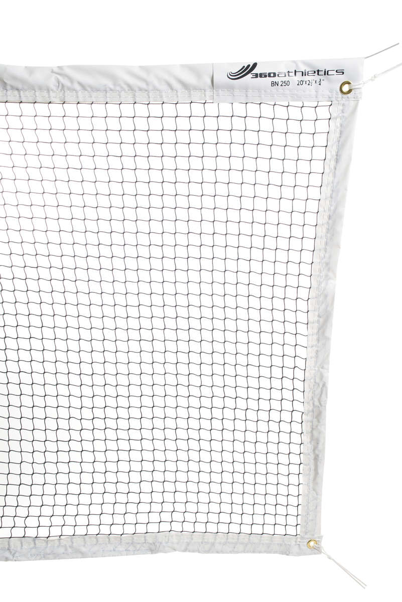 FILET DE BADMINTON EN NYLON AVEC CORDE - 20' - Badminton Tournament Net - Rope Top