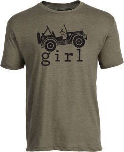 4x4 Girl Tee Heather Olive