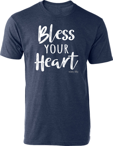 Bless Your Heart Tee Heather Navy