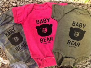 Baby Bear Bodysuit Heather Military Green