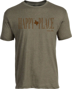 Happy tx Place Tee Heather Olive