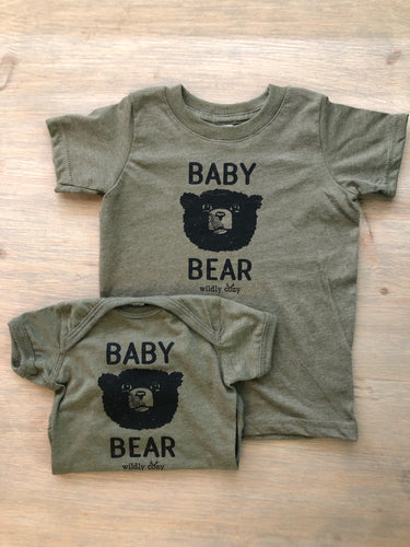 Baby Bear Heather Military Green Tee Toddler