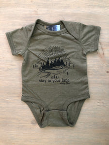 Stay In Your Lane Heather Military Green Bodysuit
