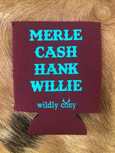 Merle Cash Hank Willie Maroon