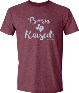 Born & Raised Tee Heather Maroon