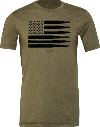 Bullet Flag Tee Heather Olive