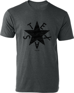 Texas Zavala Tee Heather Charcoal
