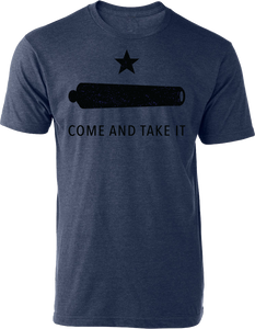 Come & Take It Tee Heather Navy