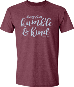 Humble & Kind Tee Heather Maroon