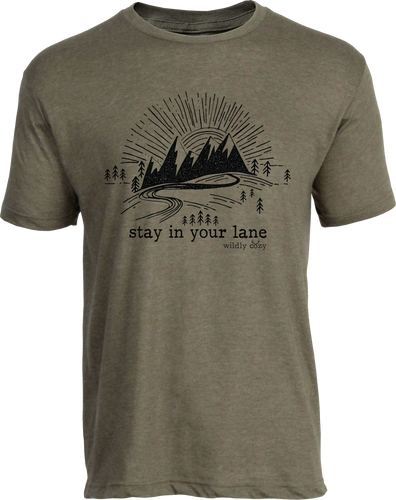 Stay In Your Lane Tee Heather Olive