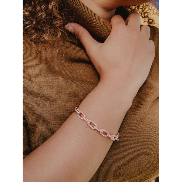 C33 Rose Gold Chain Link Bracelet