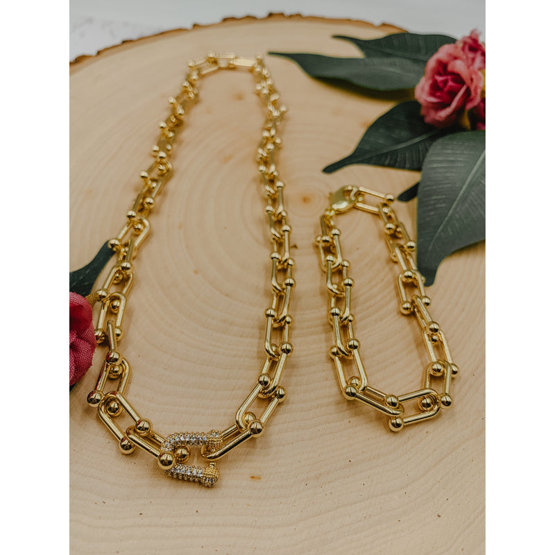C6 Gold Chain Link Necklace