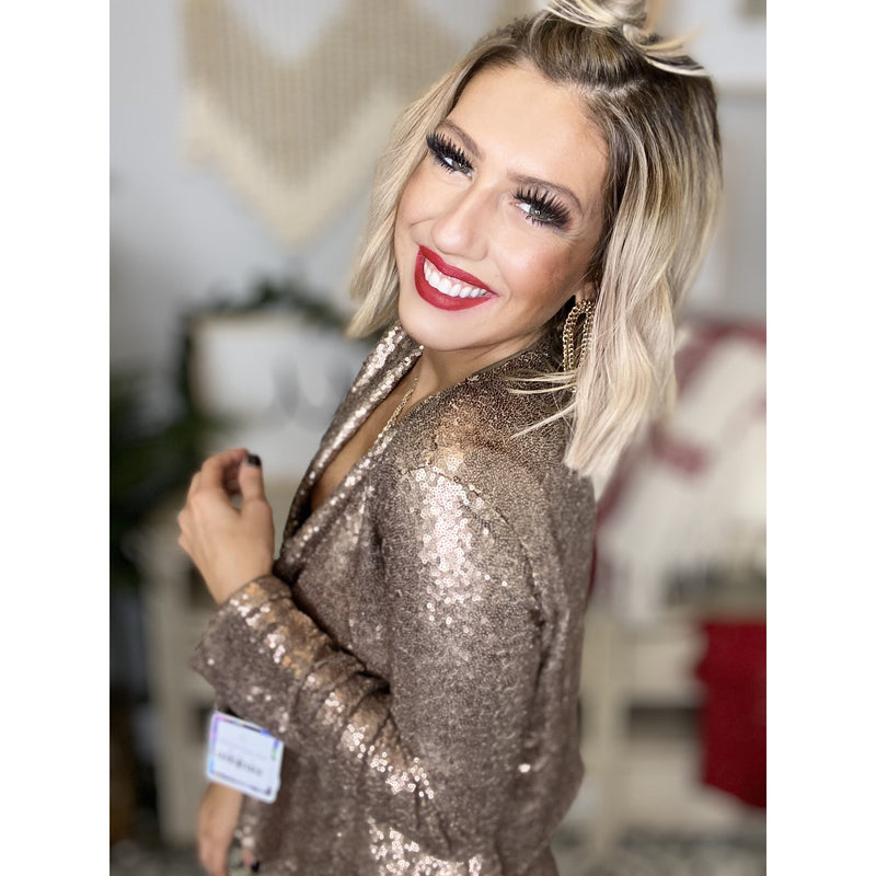 736 Bronze Sequin Jacket