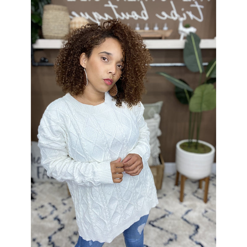 743 Ivory Soft Cozy Sweater