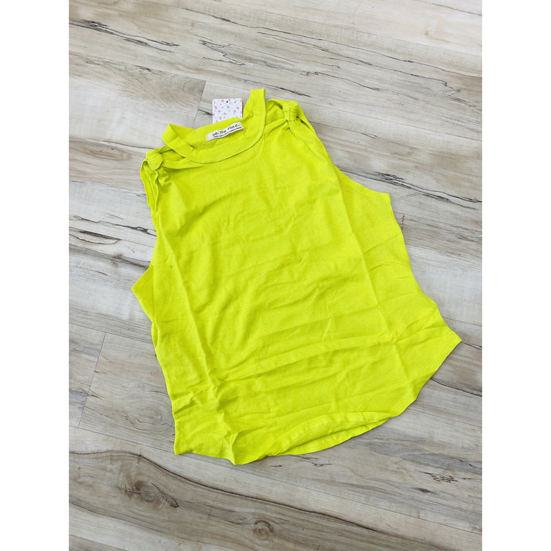Free People Zesty Knotted Tank Top