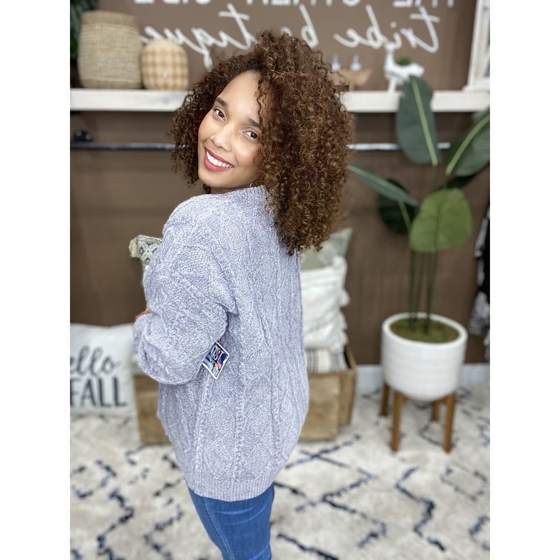 714 Grey Soft Cozy Sweater