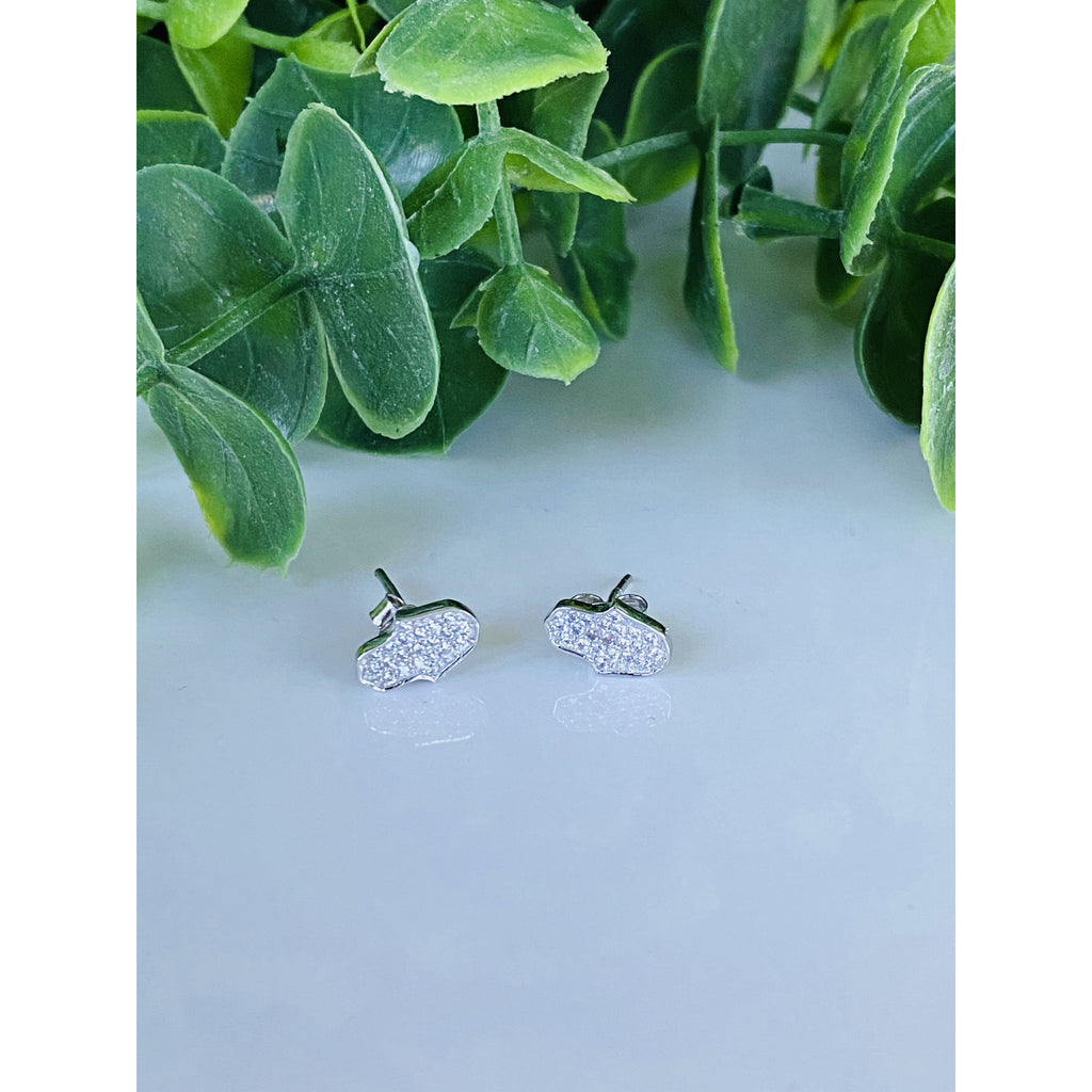 Studded Hamza Hand .925 Sterling Silver Stud Earrings