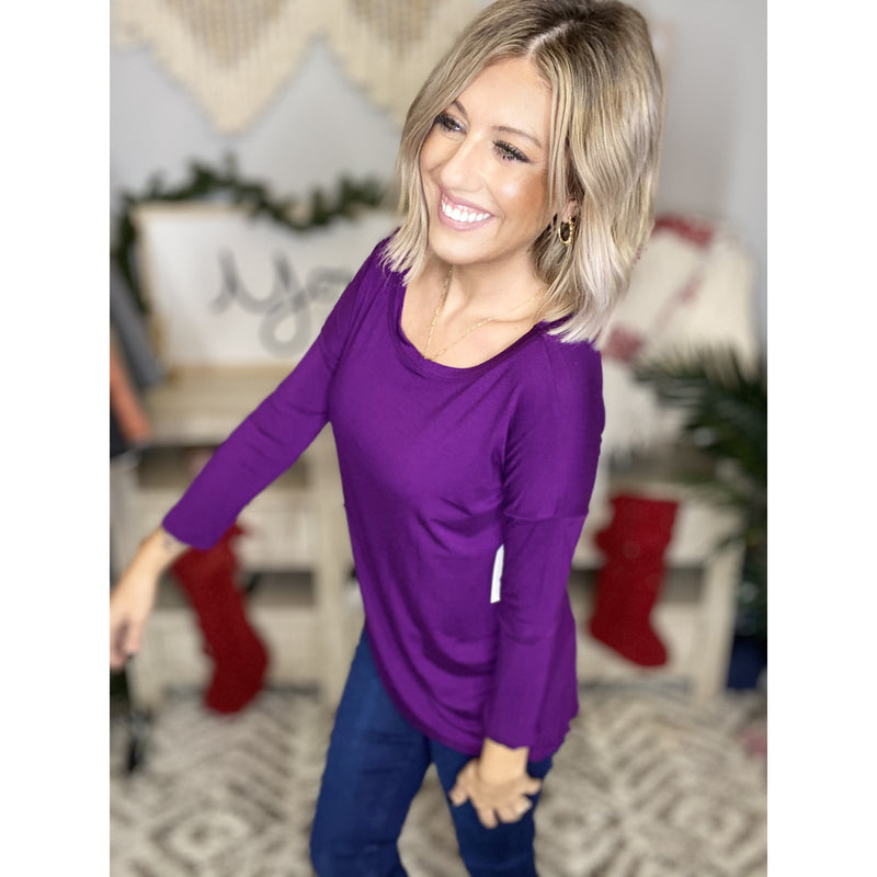 99 Plum Open T-Back Tunic Top*