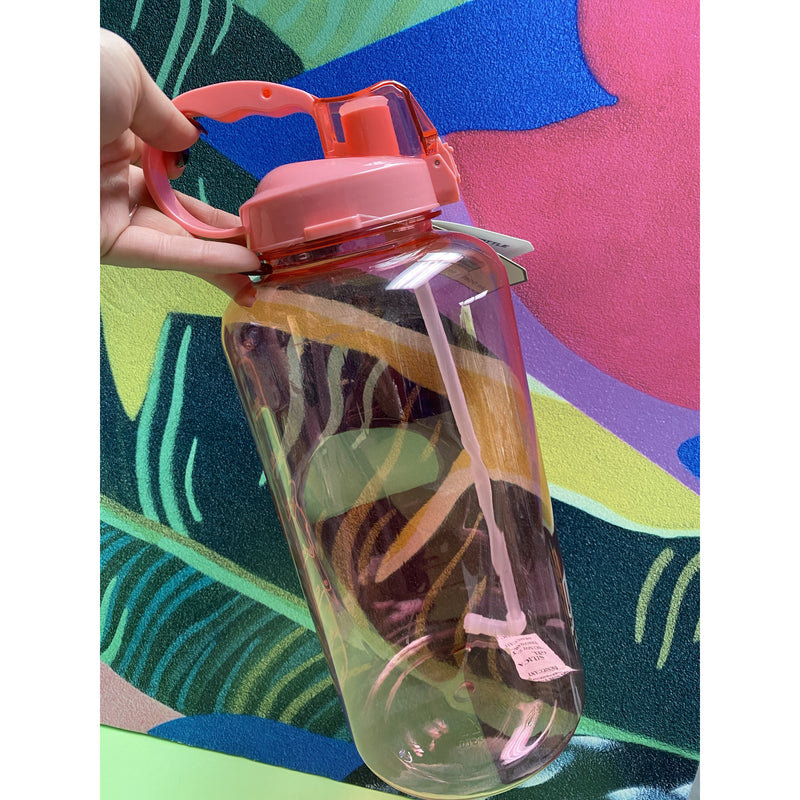 Gallon Water Bottle with Pop Up Straw
