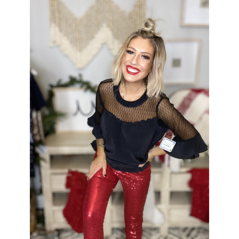 B33 Red Sequin Pants