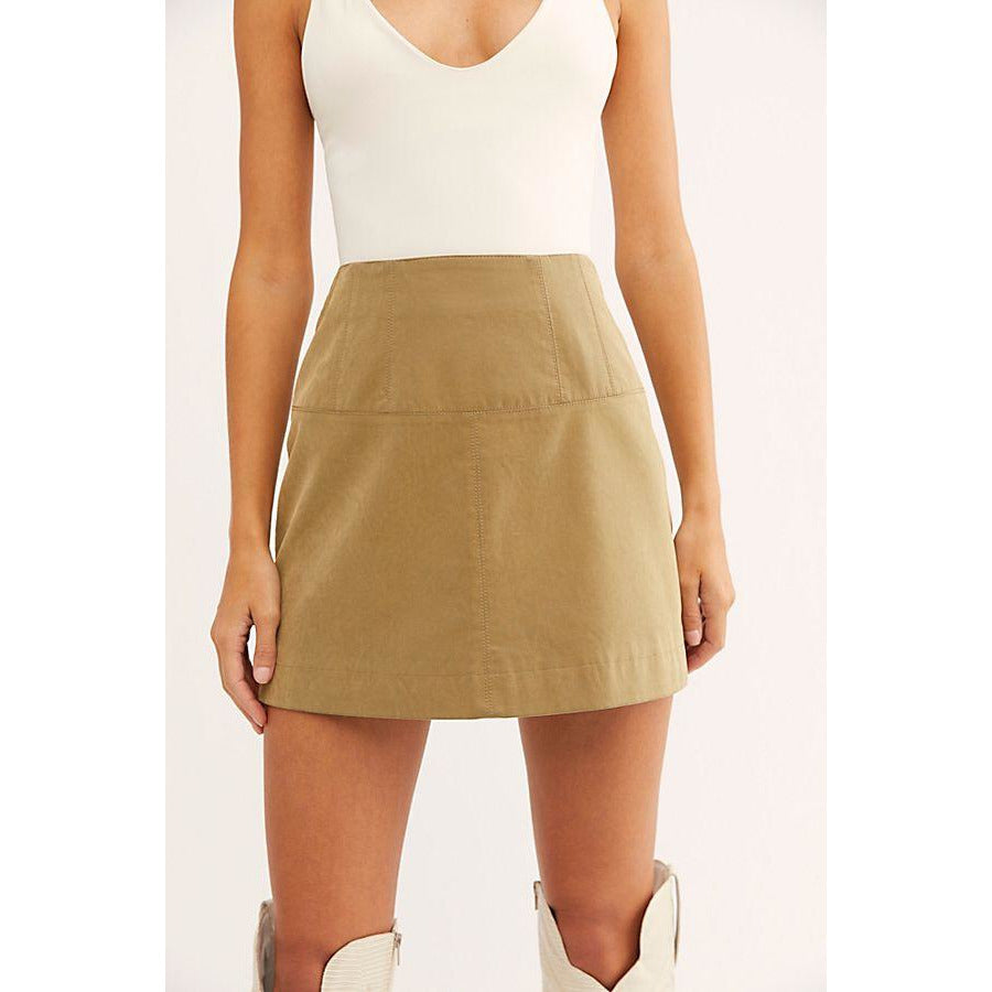 Tobacco Suede Skirt