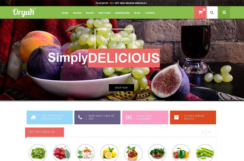 Green and Organic Shopify Theme