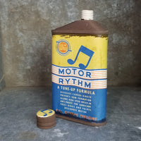 "Porcelain ""Motor Rythm"" Offset Flask 6oz (Edition of 20)"