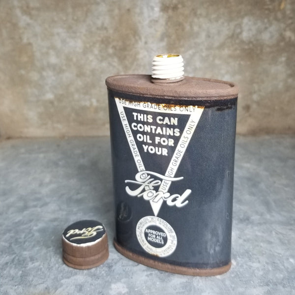 "Porcelain ""Ford"" Flask 4oz"