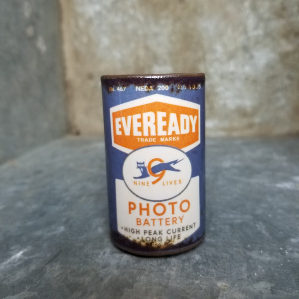 "Porcelain ""Eveready"" Shot Glass 2oz"