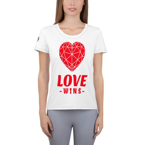 Love Wins Women's Athletic T-Shirt