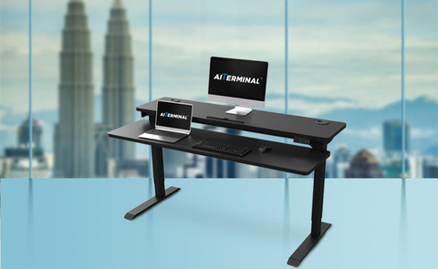 2-Tier Stand Up Desk for Productive Office Ideas