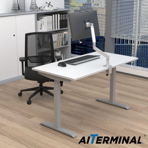 *50% OFF Get The $107 Monitor Arm For Free* Electric Single Motor Adjustable Standing Desk Frame & Single Monitor Arm For Free