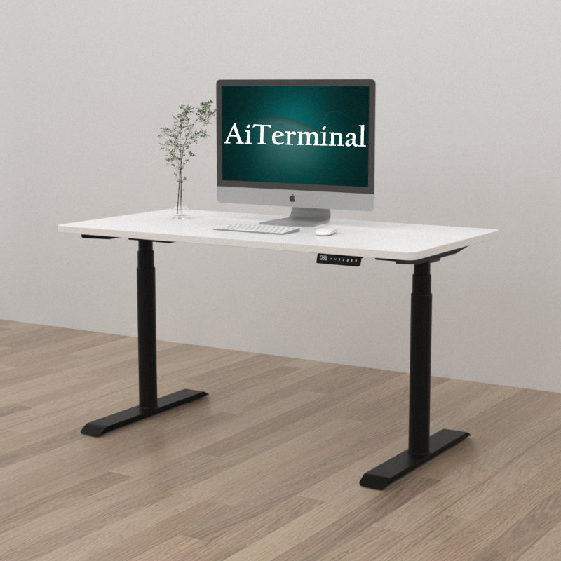 "Solid Rectangular Tabletop for Height Adjustable Desk 55.12"" x 27.56"" x 1"" (L x W x Thickness)"