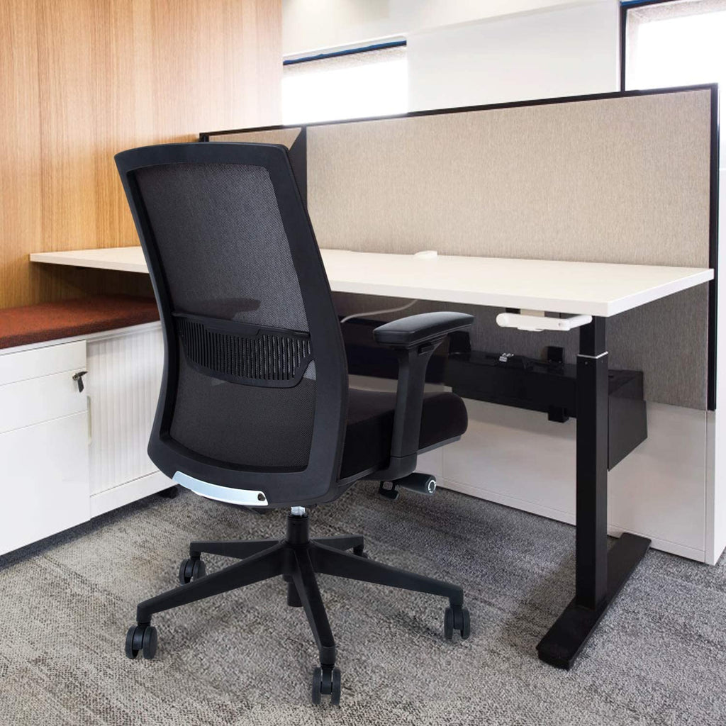 Mesh Office Chair with Mid Back Ergonomic Support & Arm Rest (5581758464155)
