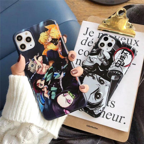 Coques au design Demon Slayer pour iPhone-Coque de protection-UneMinuteManga