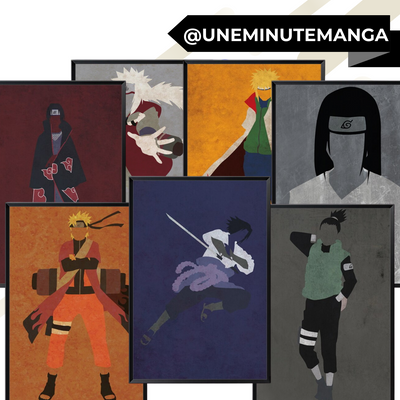 Pack de 7 posters - Naruto Shippuden-Posters-UneMinuteManga