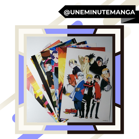 Pack de 8 posters - Naruto et Boruto-Posters-UneMinuteManga
