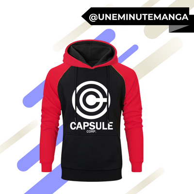 "Sweat à capuche ""Capsule Corp"" - Dragon Ball-Sweat-UneMinuteManga"