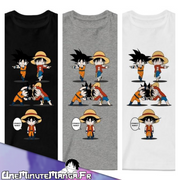 Tee-shirt Luffy x Goku - One Piece-T-Shirt-UneMinuteManga