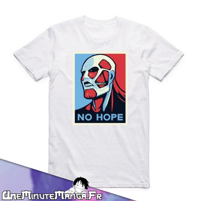 Tee-shirt No Hope - L'Attaque des Titans-T-Shirt-UneMinuteManga