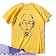 "Tee-shirt Saïtama ""OK"" - One Punch Man-T-Shirt-UneMinuteManga"